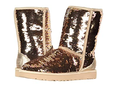UGG Classic Short Sequin (Gold Combo) Women