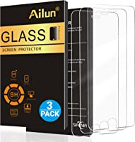 Ailun Screen Protector Compatible with iPhone 8 Plus 7 Plus,[5.5inch][3Pack],2.5D Edge Tempered Glass Compatible with iPhone 8 Plus,7 Plus,Anti-Scratch,Case Friendly,Siania Retail Package