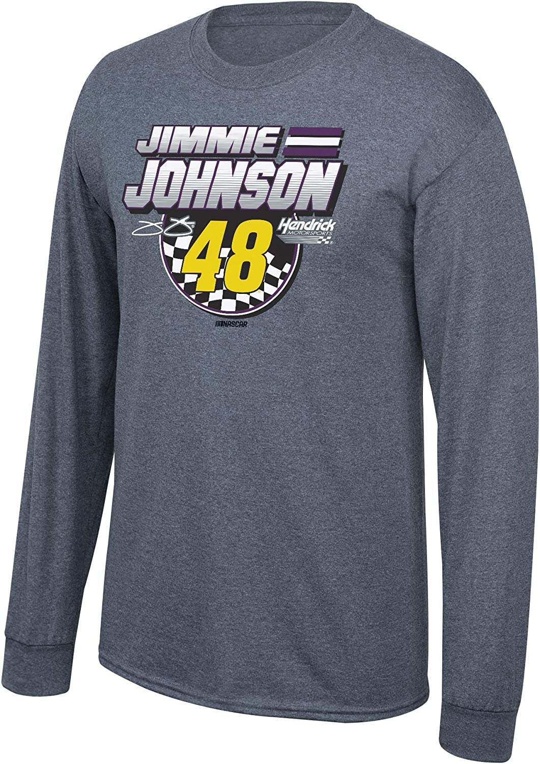 NASCAR Driver Merchandise Fan Favorite Checkered Flag Cotton Long Sleeve Tee