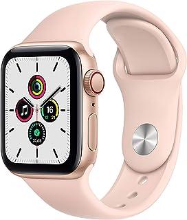 AppleWatchSE GPS+Cellular, koperta 40mm, Aluminium, Złota, Pasek Sportowy, Piaskowy Róż – Standardowy