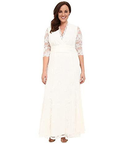 Kiyonna Amour Lace Wedding Gown (Ivory) Women