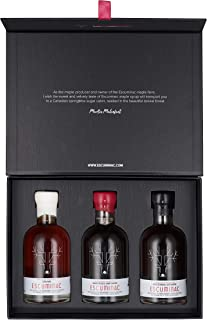 Award Winning Escuminac Maple Syrup Special Holiday Edition Gift Set - 3 x 200 ml. Includes Our Extra Rare, Great Harvest And Late Harvest Flavors. Unblended, Single Origin, Pure, Organic. All Canada
