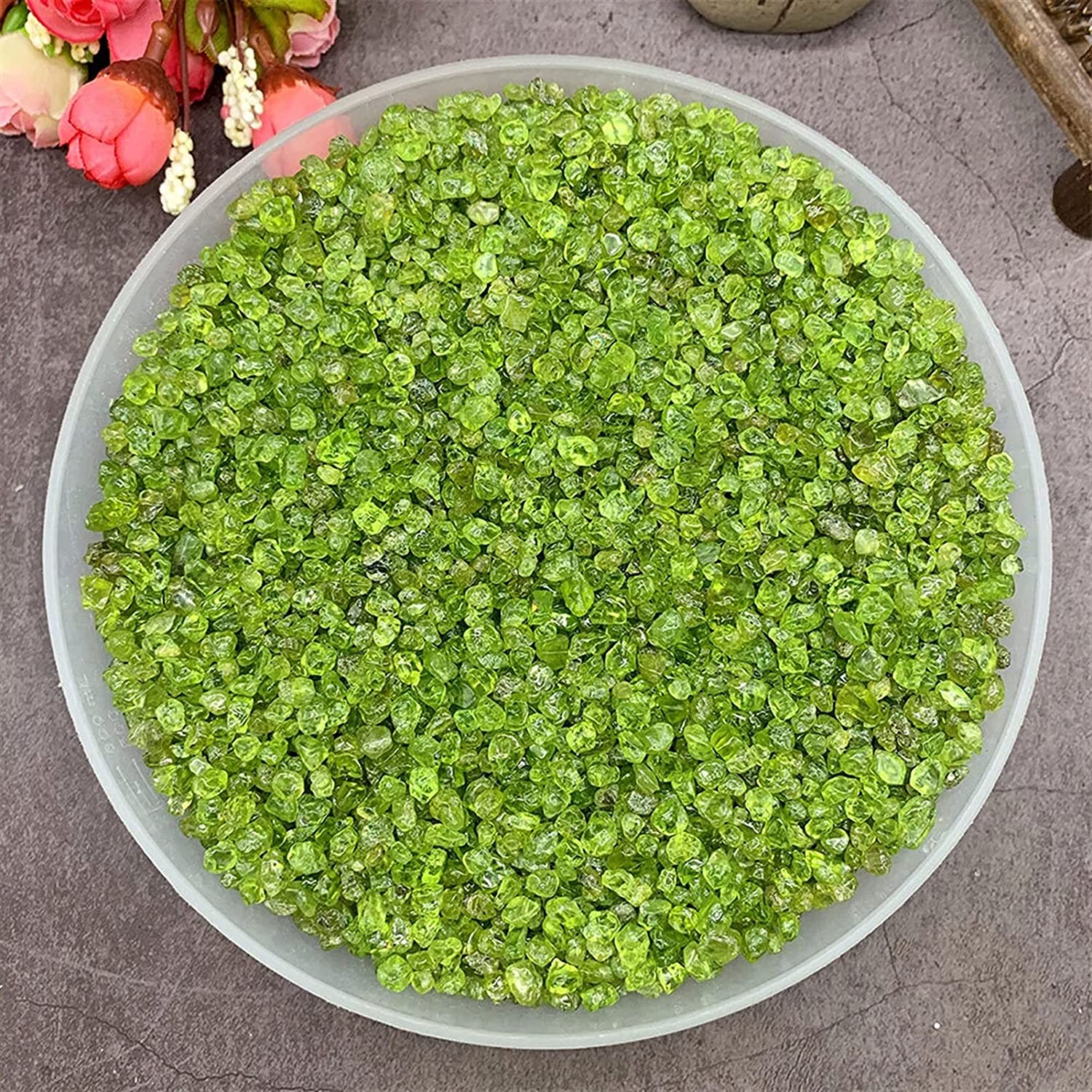 Factory outlet YSJJAXR Natural Crystal Stone 100g Oliv Memphis Mall Peridot Pack Lot