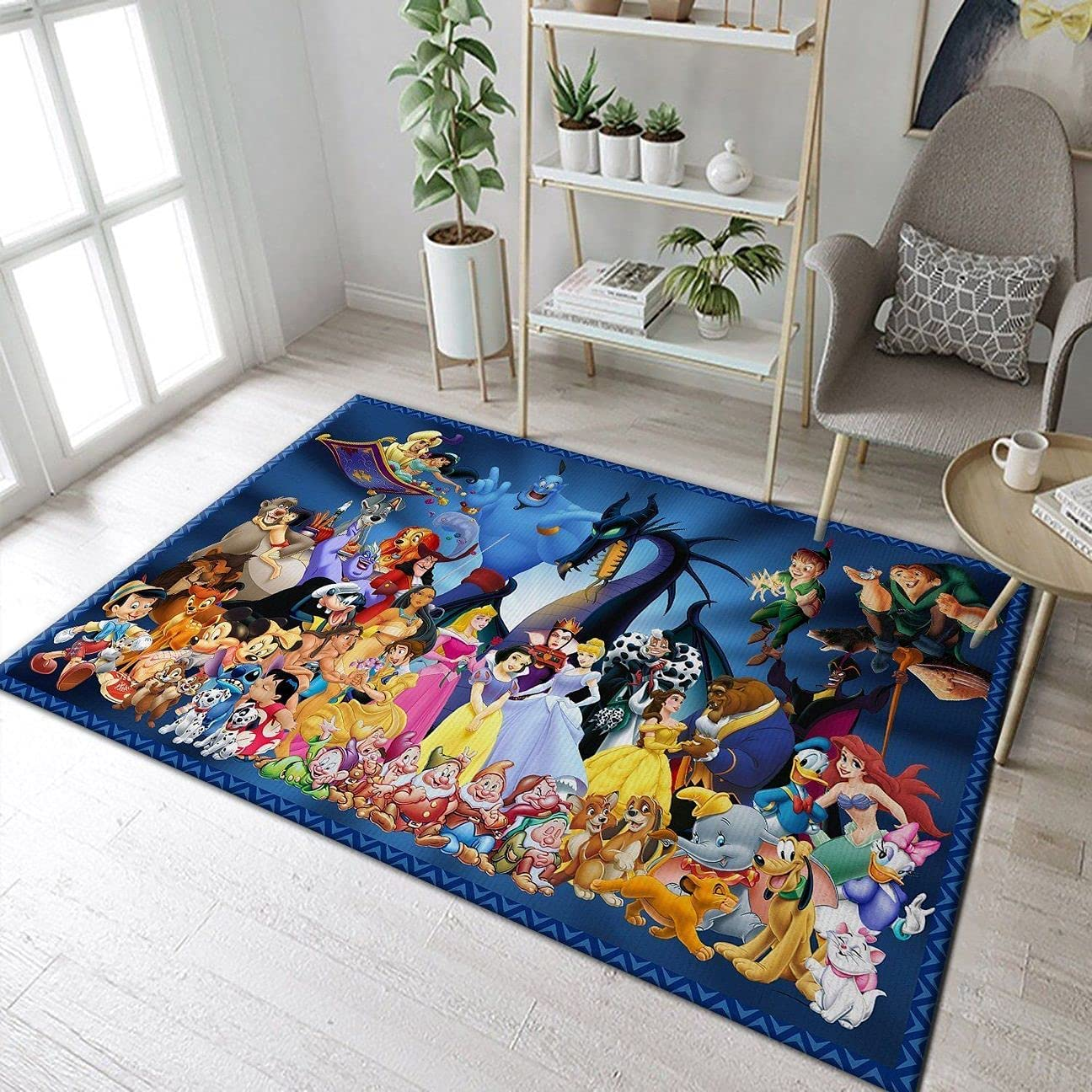 Department store Cartoon Rug Princess and Castle Non- Room 5 ☆ popular for Decor Living
