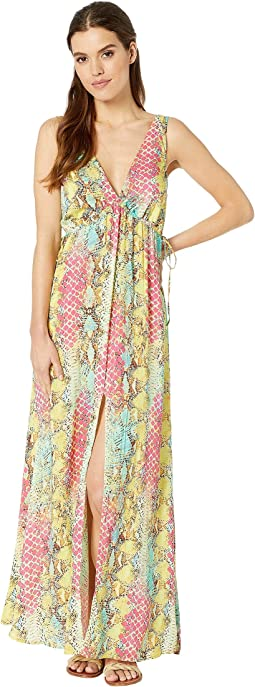 Smoke Show V-Neck Long Dress Cover-Up