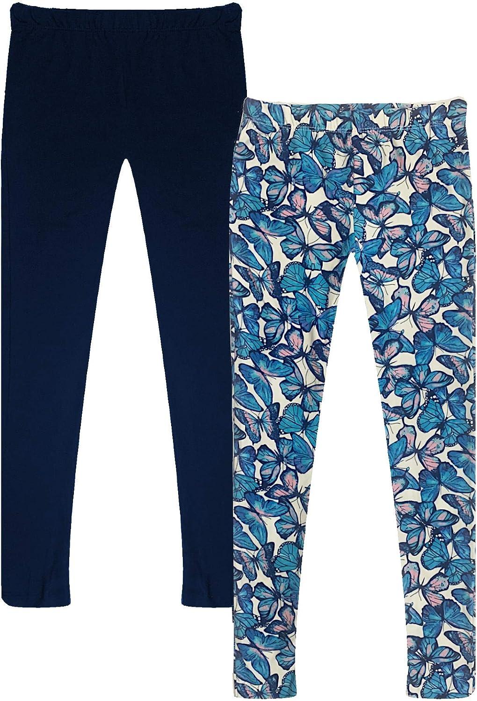 Popular Girl's Butter Soft Print Leggings - 2 Pack: Clothing