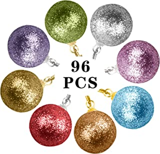 Details about  /24pc Tree Ball Bauble Glitter Hanging Party Ornaments Home Yard Decor