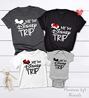 First Trip Shirt, Matching Family Vacation Tees, Women's Summer Workout Muscle Racerback Tanks