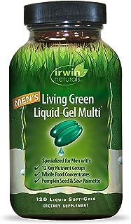 Irwin Naturals Men's Living Green Liquid-Gel Multi - 70 Essential Nutrients, Full-Spectrum Vitamins, Wholefood Blend - Tar...