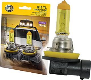 HELLA H11 Yellow-55W YL Xtreme Yellow Bulbs, 12V, 55W, 2 Pack