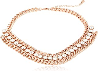 MESTIGE Pharaoh Necklace in Rose Gold with Crystals from Swarovski, Gifts Women Girls (NMS1229)