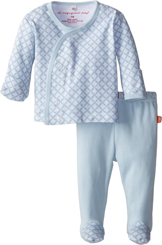 Magnificent Baby Baby-Boys Newborn Boy's Diamond Long Sleeve Kimono and Pants
