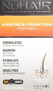 NuHair Hair Rejuvenation for Men, Tablets, 60 Count