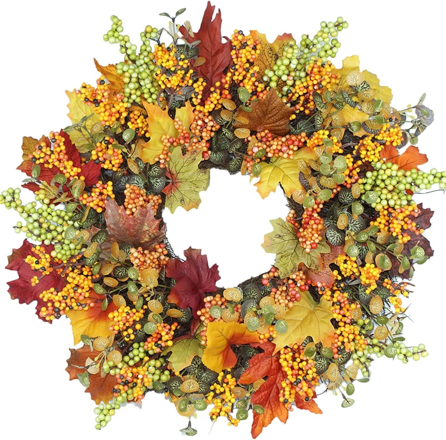 YINLAN Front Door Wreath Simulation Au Flowers Ranking Fixed price for sale TOP8 Leaf Maple