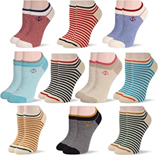 Premium 6-Pack Women's No Show Loafer Socks Invisible for Flats Sneaker Non Slip Lightweight Thin Solid Color