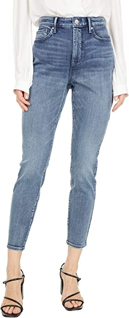 High-Rise Ami Skinny Ankle Jeans in Monet Blue