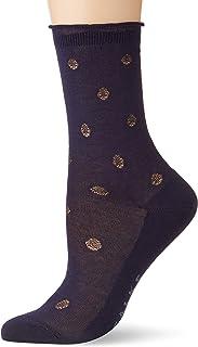 FALKE Damen Socken Prestige Dot - 80% Baumwolle, 1 Paar, Versch. Farben, Größe 35-42 - Strumpf mit Punktemusterung, eleganter Look, gerüschtes Abschlussbündchen