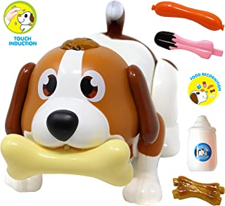 JOYIN Electronic Pet Dog, Puppy Robot Dog Toy, Touch Induction, Food Recognition, Interactive, Chasing, Walking, Dancing, Music, Remote Controlled and Fun Toys for Kids, Boys or Girls Birthday Gifts