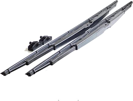 """32"""" Heavy Duty Windshield Wiper Blade Pair with Wide and Narrow Saddle Mount for Motorhome, Recreational Vehicle RV and bus"""