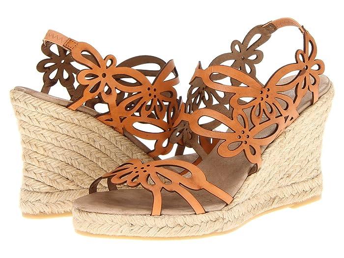 70s Shoes, Platforms, Boots, Heels Eric Michael Jillian Brown Womens Wedge Shoes $130.00 AT vintagedancer.com