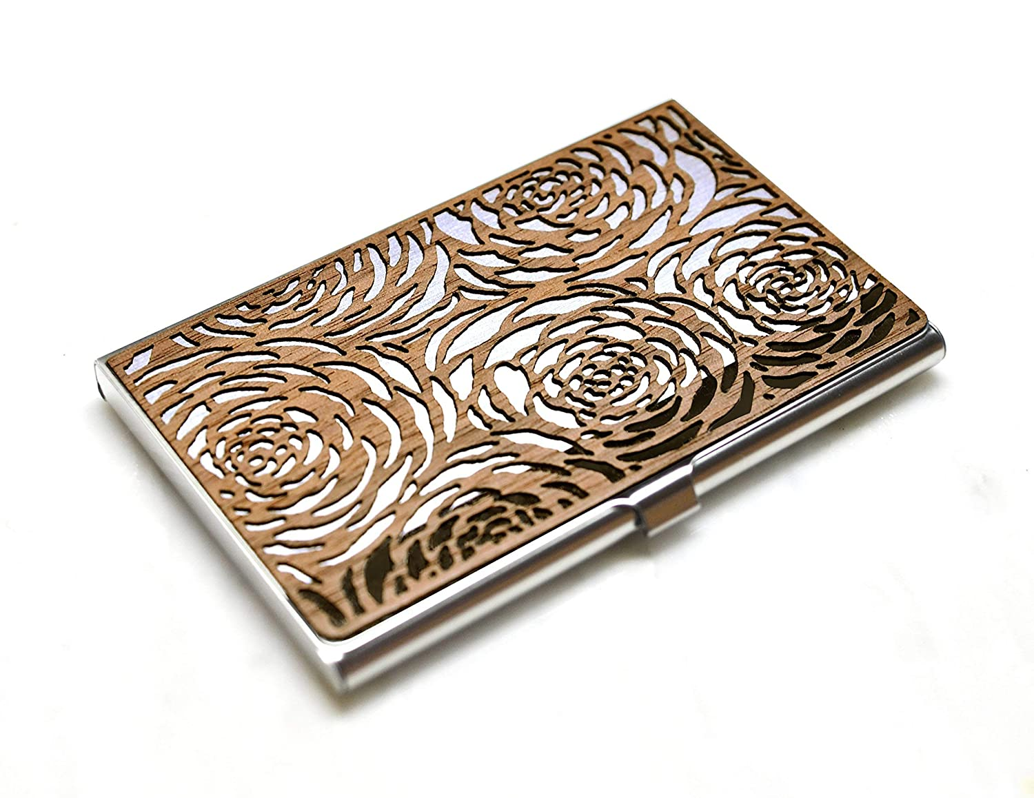 Wood Business Card Ranking TOP2 Columbus Mall Holder Steel Case Sl Stainless