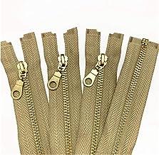 Jinggege Set van 5 stuks 5# messing metalen afzonderlijke open staart ritsen in met donut ritsen trekt 12 inch ritsen for ...