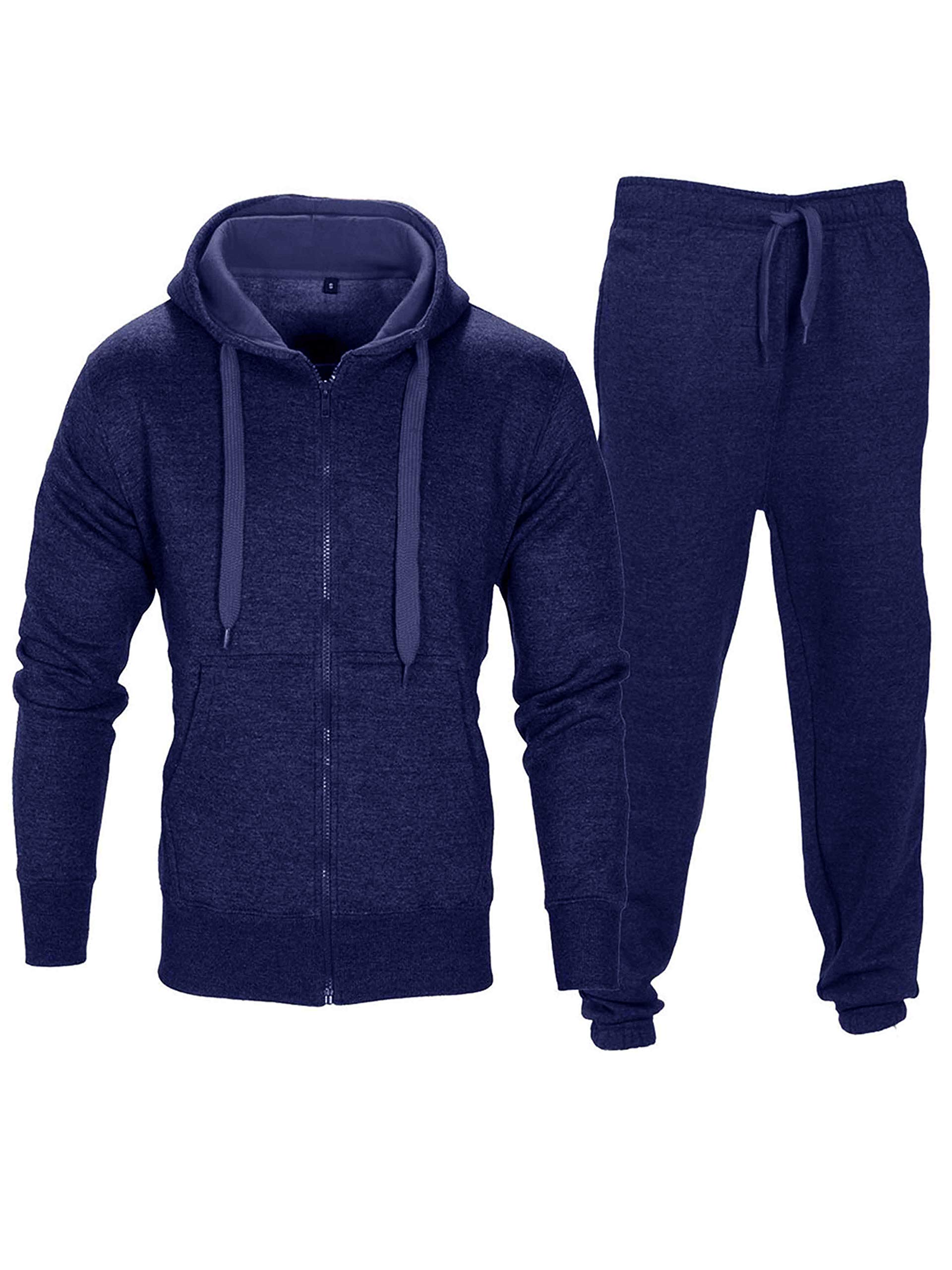 Boys Contrast Panel Tracksuit Hooded Hoodie Joggers Jogging Top Bottoms Pants