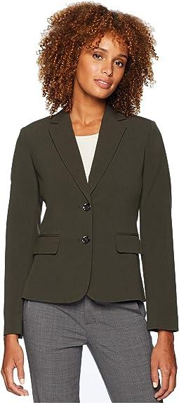 Bi-Stretch Two-Button Jacket