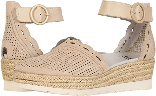 Light Tan Silky Suede/Biscuit Soft Calf