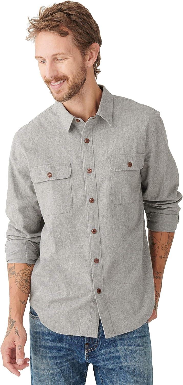 Lucky Brand Men's Long Sleeve Button Up One Pocket Humboldt Workwear Shirt
