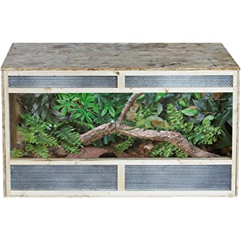 Pawhut Reptile Pet Vivarium Home House Terrarium Habitat Leopard Geckos Lizard Wooden Environmentally Friendly Osb 80cm X 50cm X50cm Amazon Co Uk Garden Outdoors