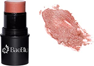 BaeBlu Organic Cheek Tint, 100% Natural Vegan Gluten-Free Cream Blush Stick, Made in USA, Sangria
