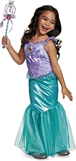 Ariel Deluxe Disney Princess The Little Mermaid Costume, Medium/7-8