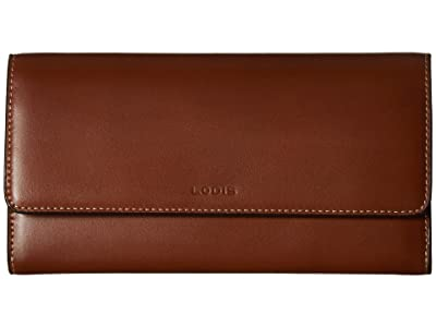 Lodis Accessories Audrey Under Lock Key RFID Luna Clutch Wallet (Sequoia/Papaya) Wallet Handbags