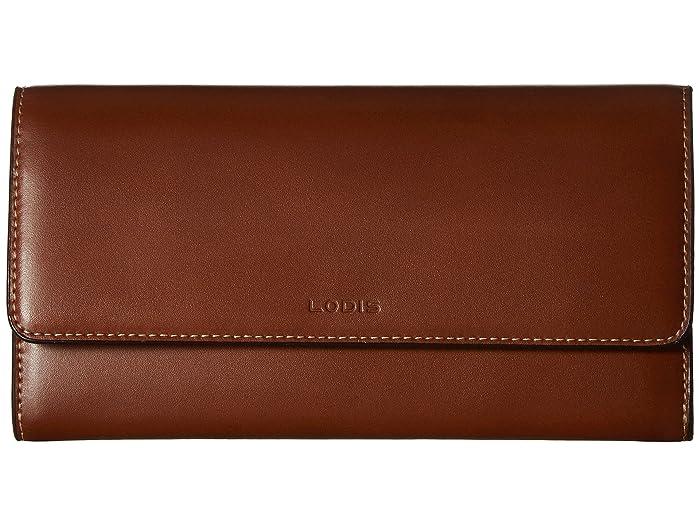 Lodis Accessories  Audrey Under Lock Key RFID Luna Clutch Wallet (Sequoia/Papaya) Wallet Handbags