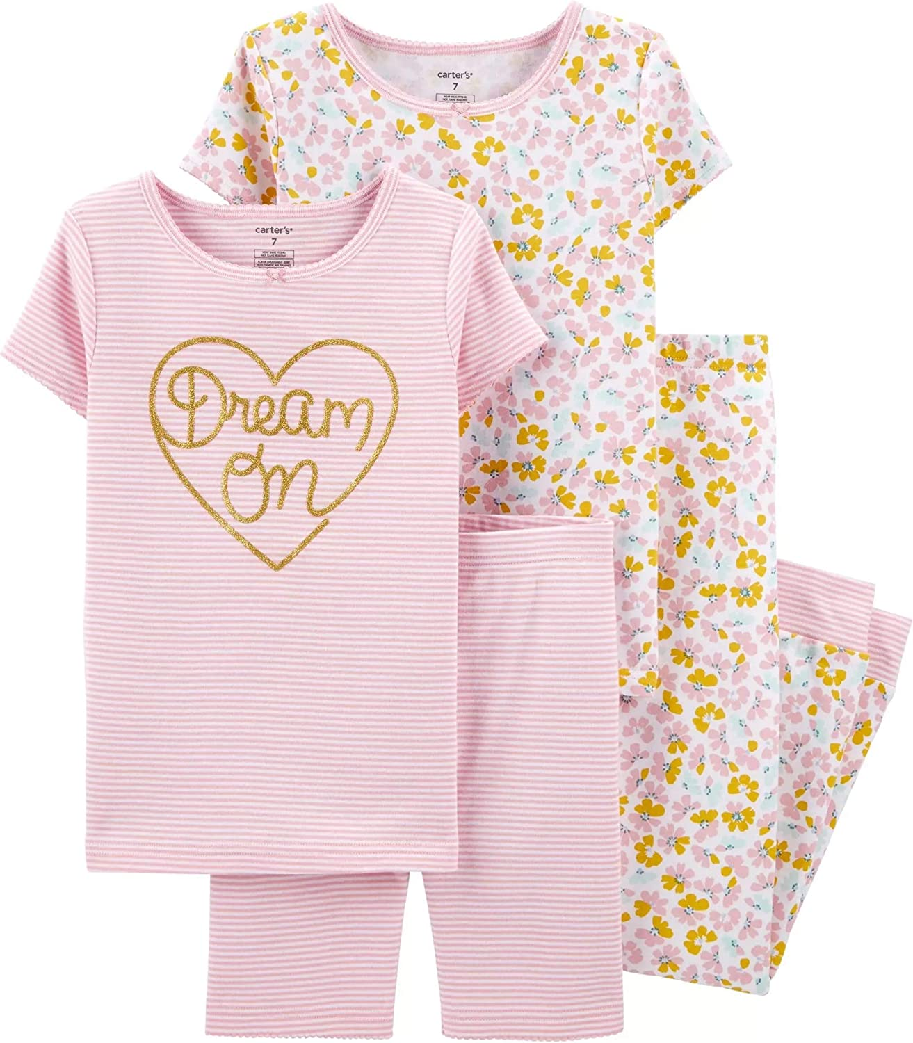 Carters Baby Girls 4 Pc Cotton 371g083