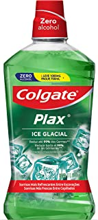 Colgate Coate Coate Enjuague Bucal Coate Plax Ice Glacial 1000 ml, color, 1000 ml, pack of aquete de