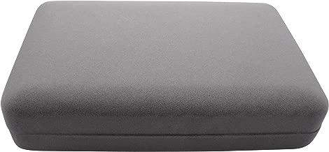 Isaac Kieran Gift Box Travel Storage Display Case (Stone Grey Velvet Necklace Gift Box, 7 x 4.3)