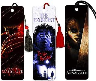 Horror Bookmark Set ~ The Exorcist | Nightmare on Elm Street | Annabelle ~ Classic Horror Movie Merchandise for Men Women ...
