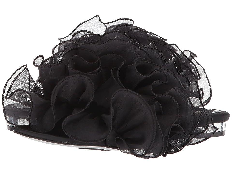 Suecomma Bonnie Chiffon Ruffle Detailed Sandals (Black 1) Women