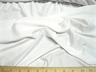 Fabric Costume Active Wear Spandex Lycra 4 Way Stretch White Ly710a (Swatch Sample (4 inches 4 inches))