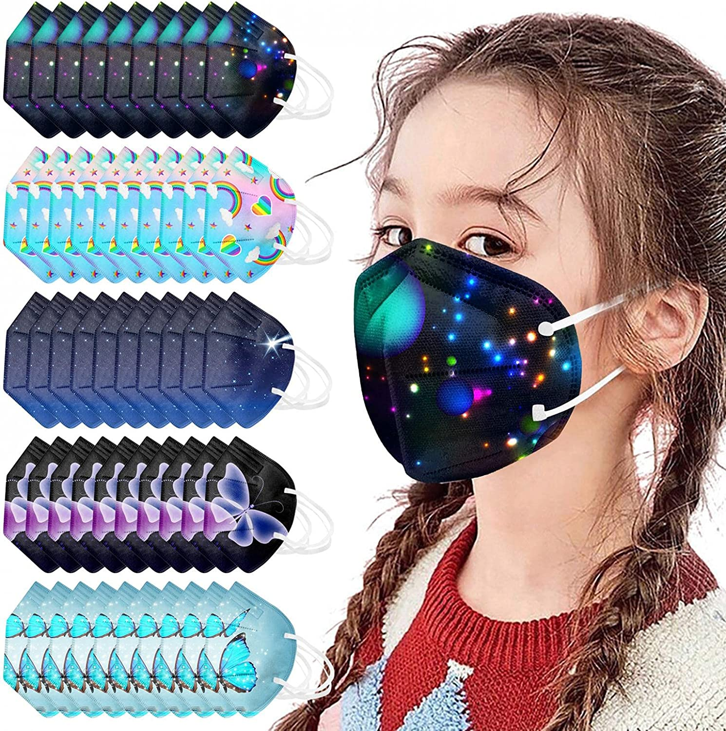 50pcs kid's KF94 Face_Mask 4-Ply 4-12Year for kids NEW before selling 3D KF94_Mask Brand new