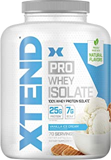 Scivation XTEND Pro Protein Powder, 100% Whey Protein Isolate, Keto Friendly + 7g BCAAs with Natural Flavors, Gluten Free ...
