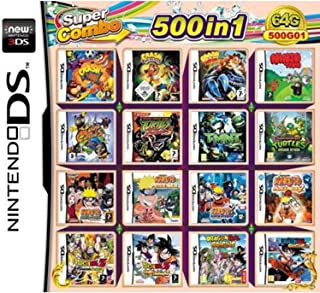 CMLegend 500 Games in 1 NDS Game Pack Carta Super Combo Cartuccia per DS New 3DS LL/XL