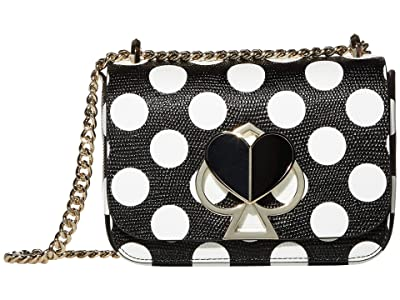 Kate Spade New York Nicola Small Convertible Chain Shoulder Bag (Black Multi) Handbags