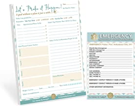 TLC Safety By Design 8.5 x 11 Large DAILY PLANNER Tear Off Pad 50 Sheets Motivational Calendar Task To Do List Appointments Schedule Organizer Goal Tracker Planner with Emergency Contact Card (Qty. 1)