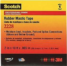 Black 1 x 10 3M Stock# 7000006048 3M 2228 Rubber Mastic Tape 2//Case