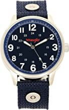 Wrangler Men's Watch, 42mm Second Hand & 24 Hr Time Track, Nylon Strap with Rivets, Water Resistant