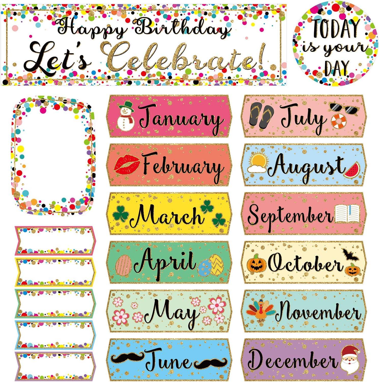 Confetti Happy Birthday Mini Bulletin Birt Let's Celebrate Board Max 44% OFF Outlet SALE