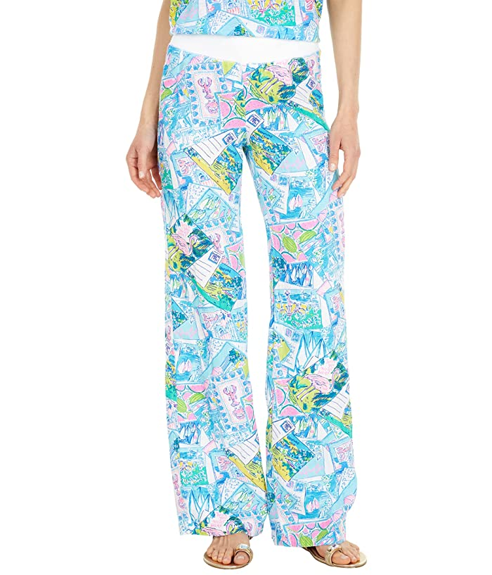 1960s Pants – Top 10 Styles for Women Lilly Pulitzer Beach Palazzo Womens Casual Pants $128.00 AT vintagedancer.com